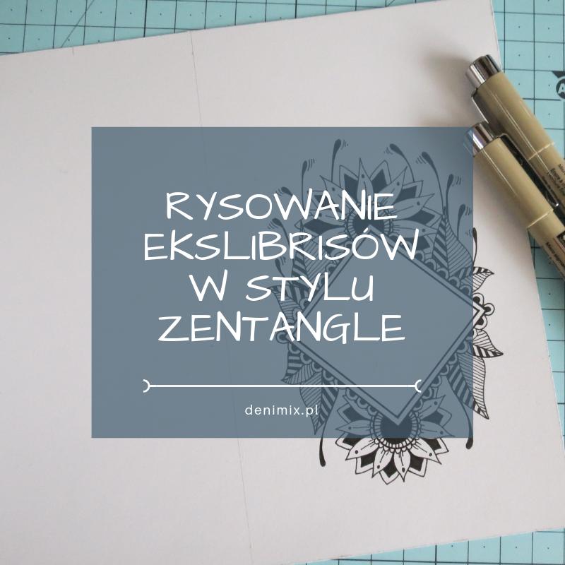 jak zrobić exlibris w stylu Zentangle