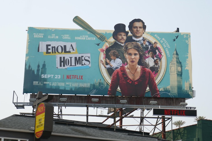 Enola Holmes movie billboard