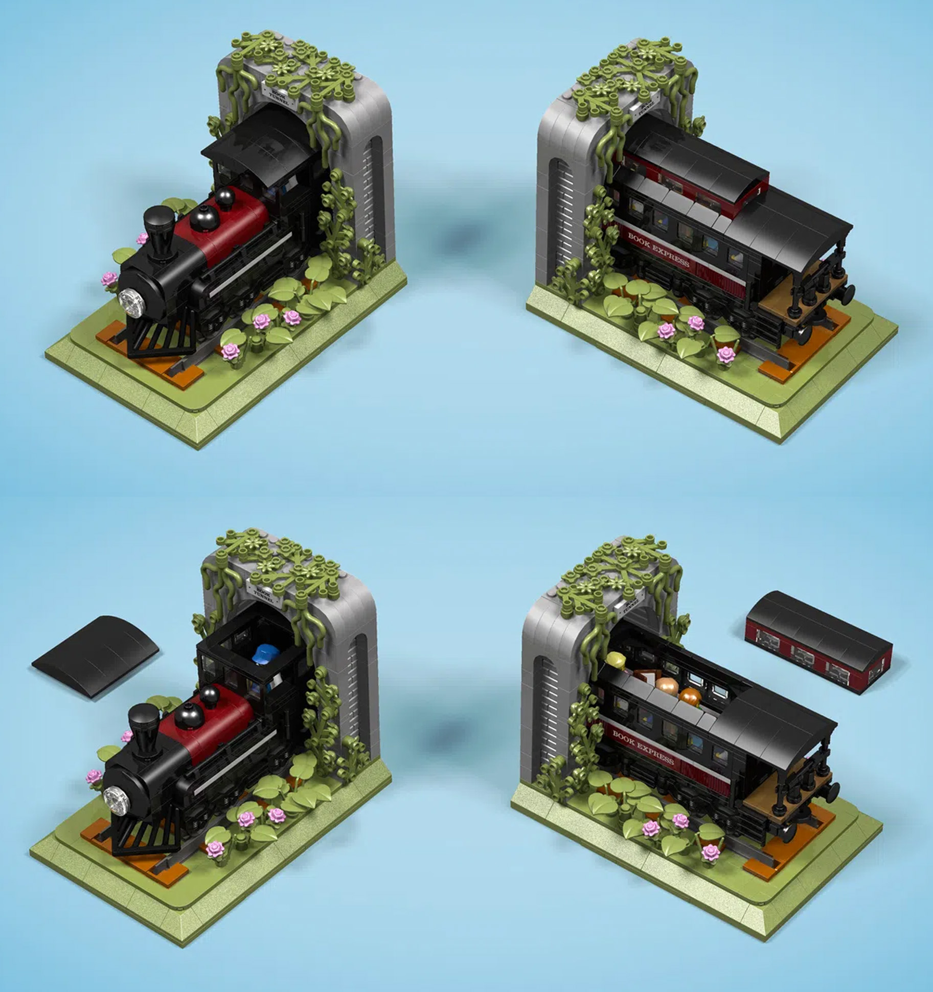 レゴアイデアで『汽車のブックエンド』が製品化レビュー進出!2021年第1回1万サポート獲得デザイン紹介