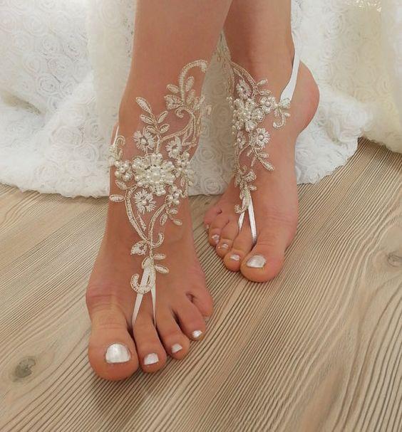 0d43b4acfe8b Barefoot Beach Wedding Sandals... ~ Hot Chocolates Blog