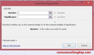 fungsi argument rumus Ceiling