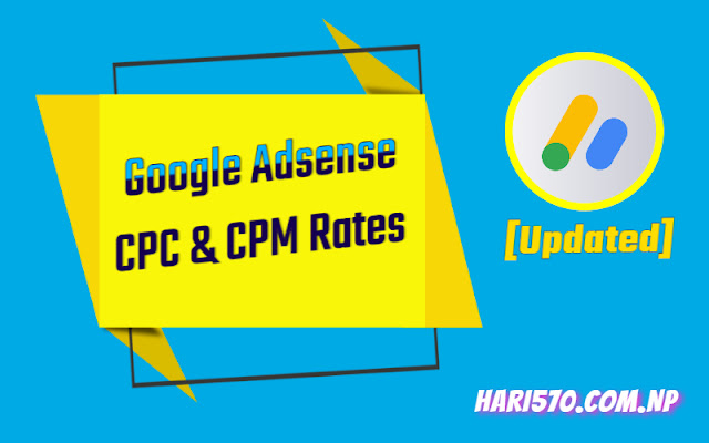 Google Adsense CPM Rates by Country