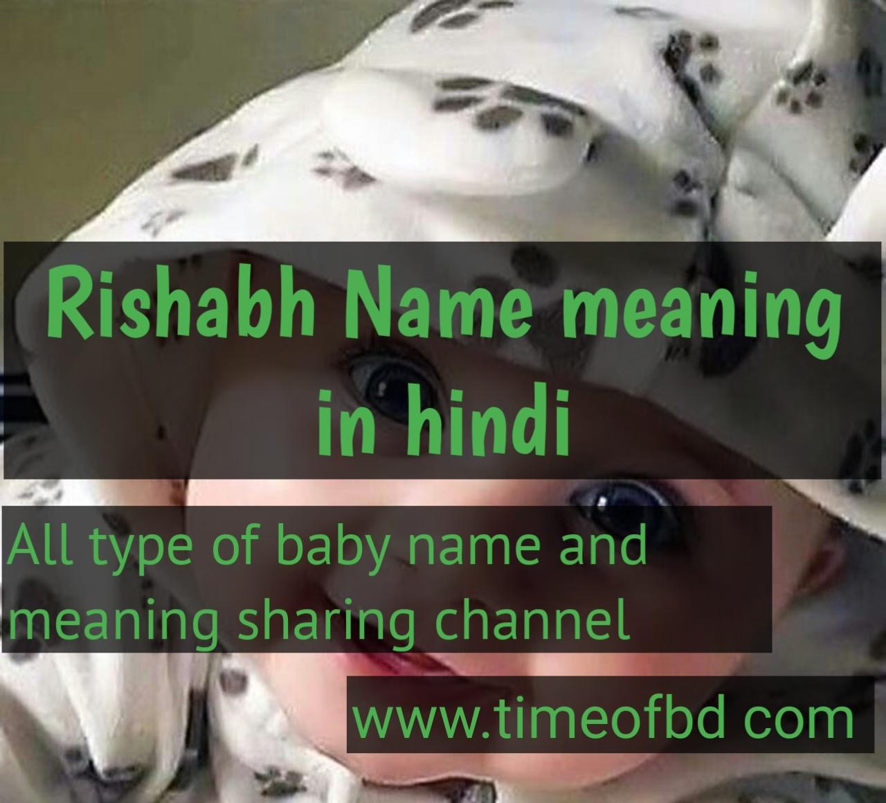 rishabh name meaning in hindi, rishabh ka meaning ,rishabh meaning in hindi dictioanry,meaning of rishabh  in hindi