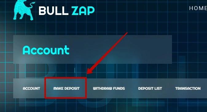 Пополнение баланса в BullZap