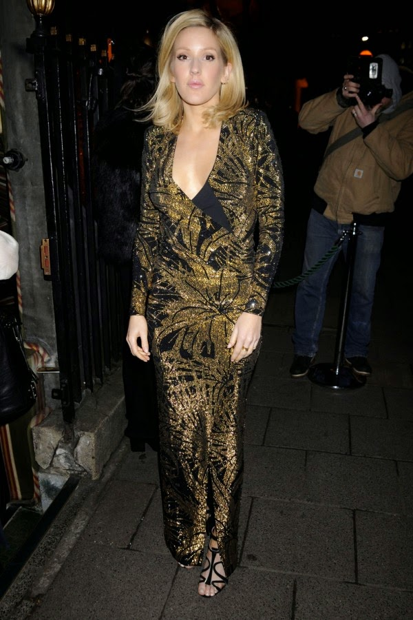 Ellie Goulding Debuts Her New Hair At A Star-Studded Balmain Dinner