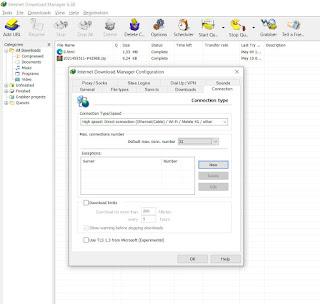 cara mempercepat download idm dengan mengatur koneksi internet