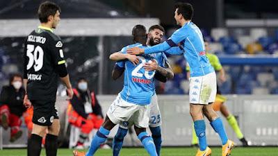 ملخص واهداف مباراة نابولي و سبيزيا (4-2) كأس إيطاليا