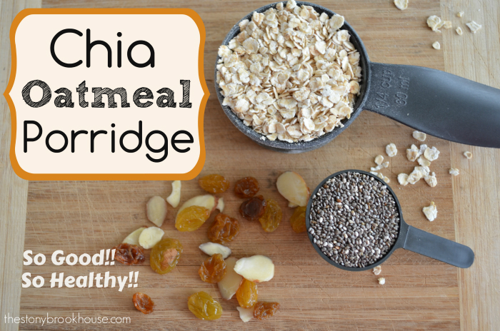 Healthy Chia Oatmeal Porridge