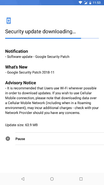 Nokia 2.1 receiving November 2018 Android Security update