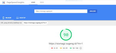 skor-template-viomagz-di-pagespeed-insight-versi-mobile
