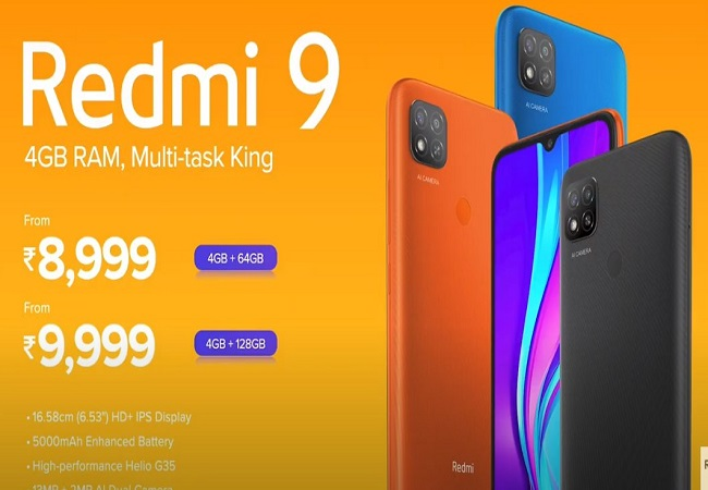 Redmi 9 price in India starts at Rs 8,999; comes with 5,000mAh battery and fingerprint sensor