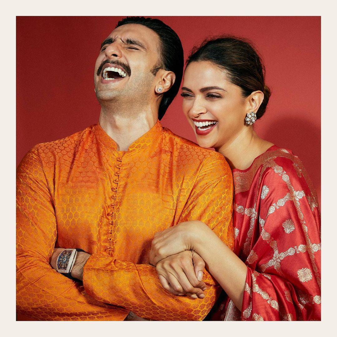 """Actors Gossips: Deepika Padukone shares hilarious meme comparing her, Ranveer Singh's Diwali look to """"gajar ka halwa"""" """"motichoor ladoo"""""""