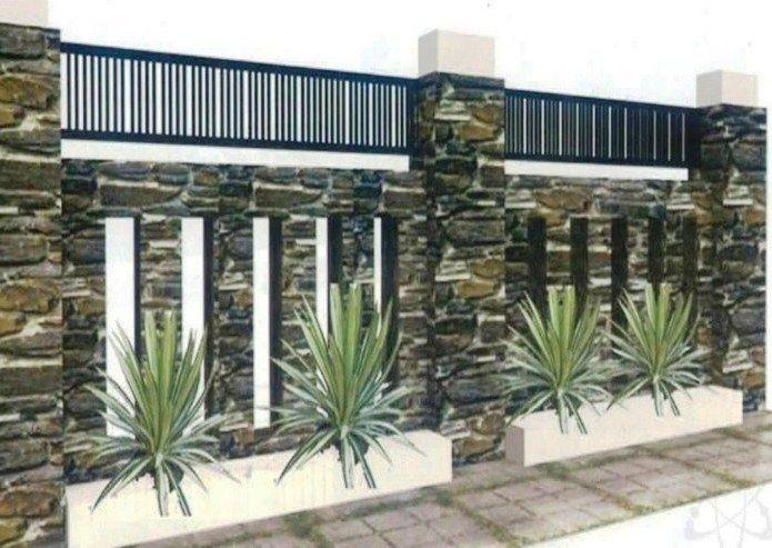 Model Pagar Tembok Cantik Minimalis