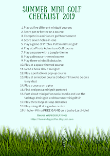 Summer Mini Golf Checklist 2019