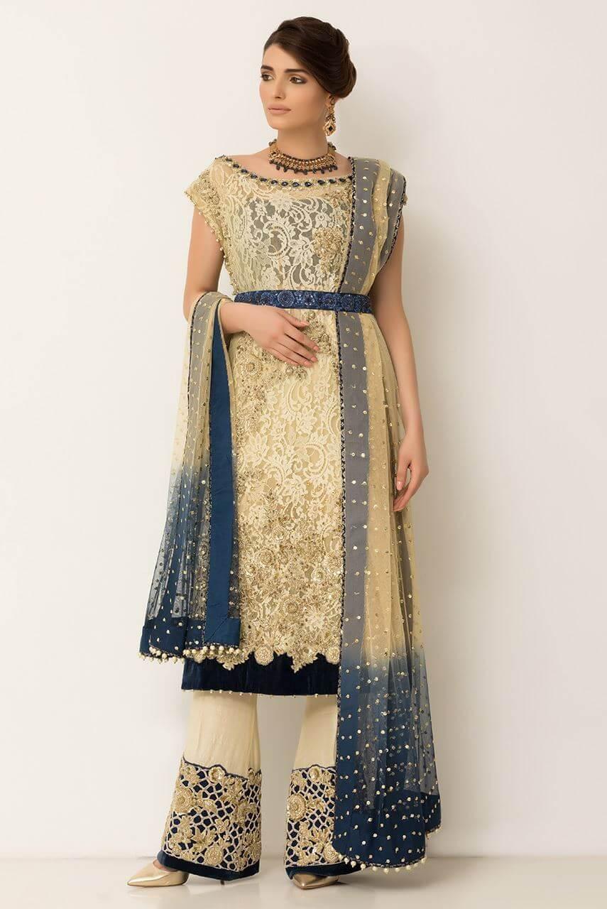 Ayesha Ibrahim Engagement Dress for Pakistani Bride