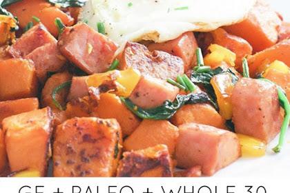 Sweet Potato and Kielbasa Skillet
