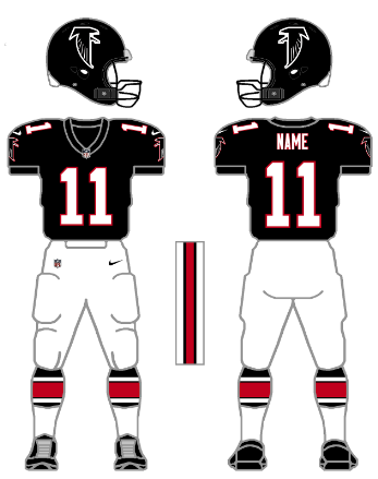 ffc3730d6a2 San Diego and Week 15 vs. San Francisco), the Falcons wore a mishmash  throwback, with the 1990-2002 style black helmet worn with the 1966 jersey/pants/socks  ...