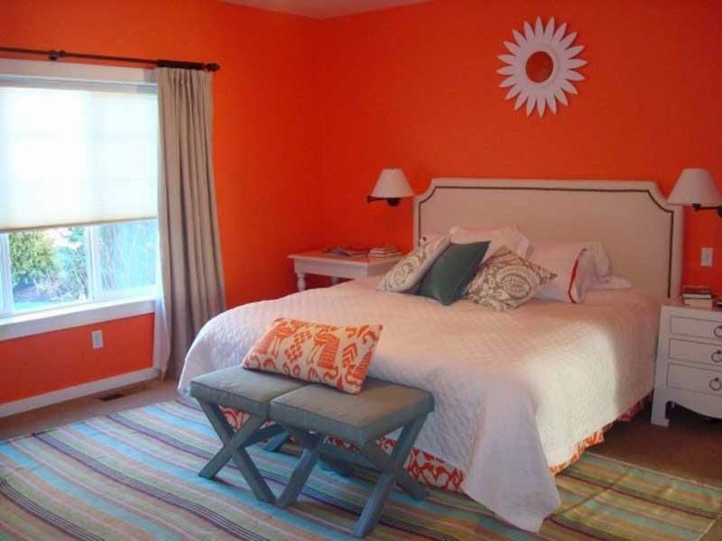 Paredes de dormitorio en color naranja dormitorios colores y estilos - Habitaciones color naranja ...