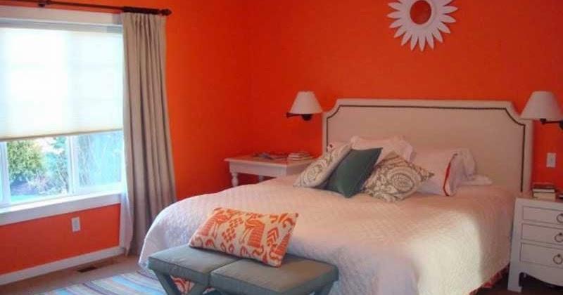Paredes de dormitorio en color naranja dormitorios - Habitaciones color naranja ...