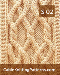 Cable Scarf Pattern 02 - Twin Celtic