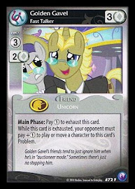 My Little Pony Golden Gavel, Fast Talker Canterlot Nights CCG Card