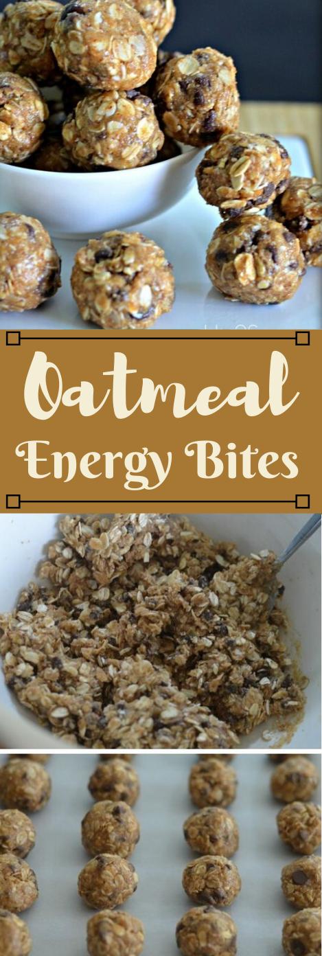 Oatmeal Energy Bites #oatmeal #easy #desserts #bites #bars