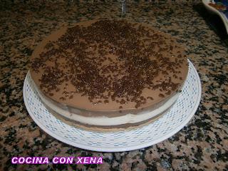 Tarta Tres Chocolates.... Sin Nata....muy Buena