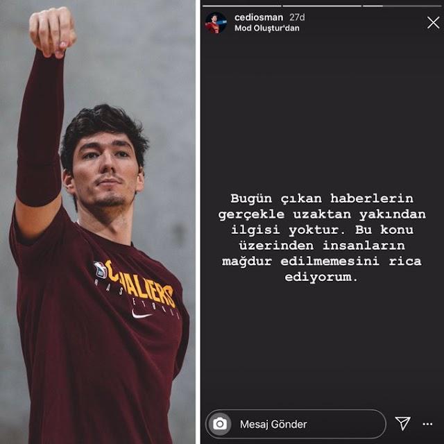 Cedi Osman, Ebru Şahin ile aşk yaşadığı haberlerini yalanladı İnsanların mağdur edilmemesini rica ediyorum.