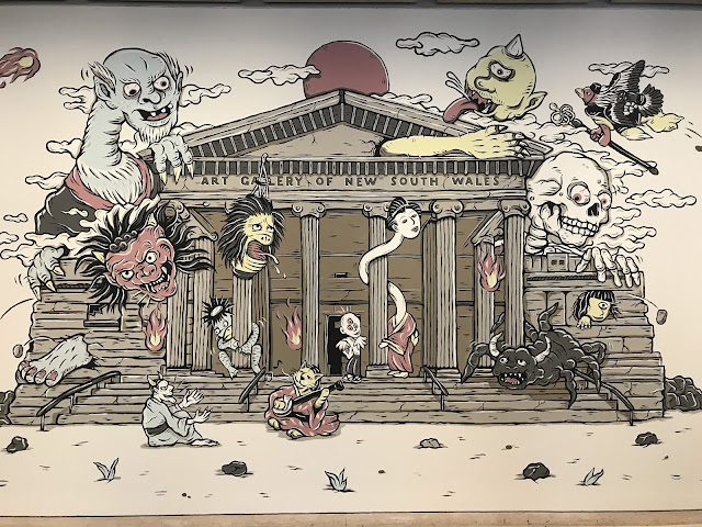 Photo of the mural by Kentaro Yoshida, Night procession of the hundred demons, 2019, AGNSW