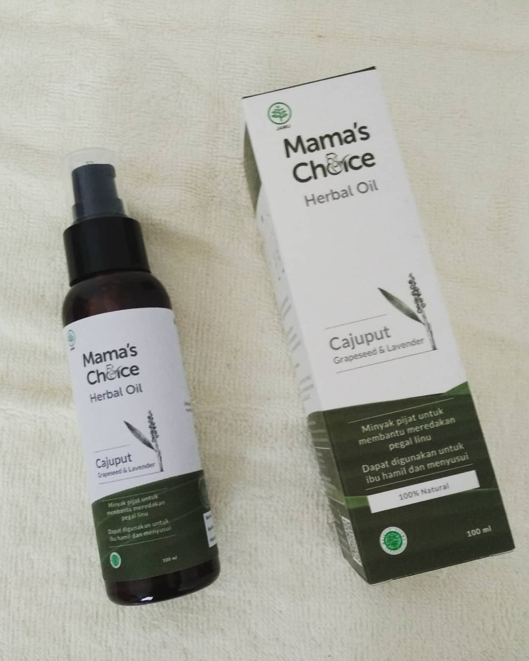 review mama's choice herbal massage oil