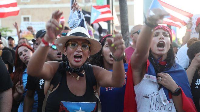 Se acrecienta manifestaciones callejeras en demanda renuncia del gobernador de Puerto Rico