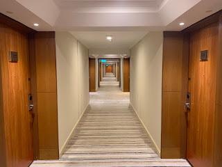 Hilton Singapore hotel corridor