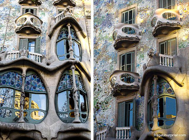 Casa Batlló, de Antoni Gaudí, em Barcelona