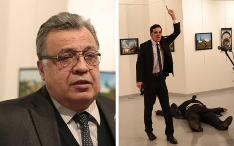 Russian ambassador to Turkey, Andrey Karlov,  shot dealth