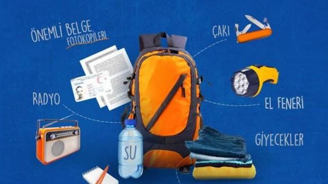 Deprem çantasında hangi eşyalar olmalı?