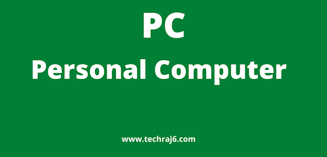 PC full form, What is the full form of PC