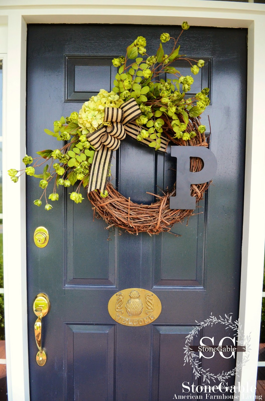 Now thatu0027s a wreath that singsu2026 WELCOME! & SUMMER INITIAL WREATH DIY - StoneGable pezcame.com