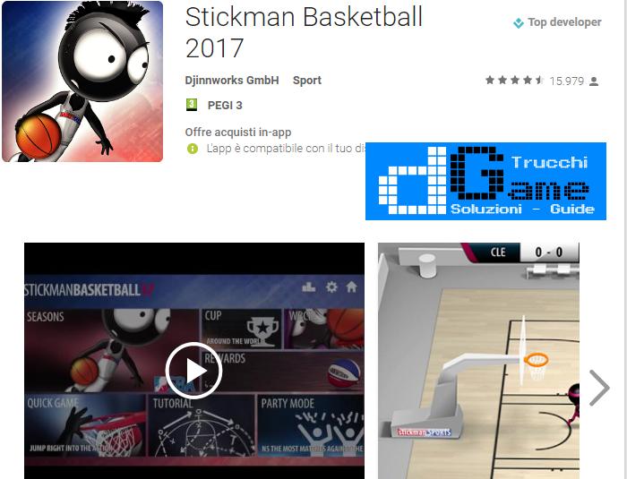 Trucchi Stickman Basketball 2017 Mod Apk Android v1.1.2