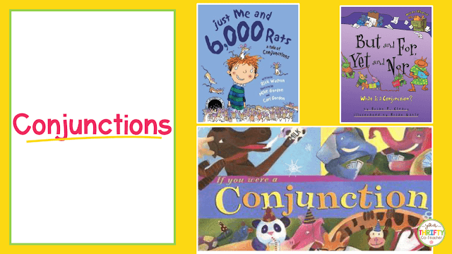 Here is a list of picture books to teach conjunctions. Use these to introduce conjunctions and engage your upper elementary students.