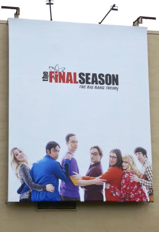 Big Bang Theory final season billboard