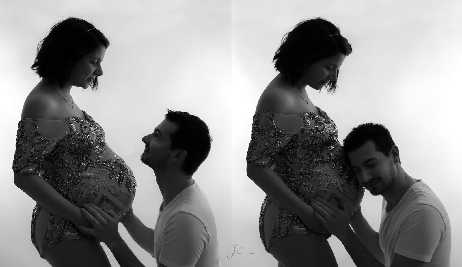 shooting photo grossesse enceinte professionnel studio maternité photographe julie charles les gommettes de melo