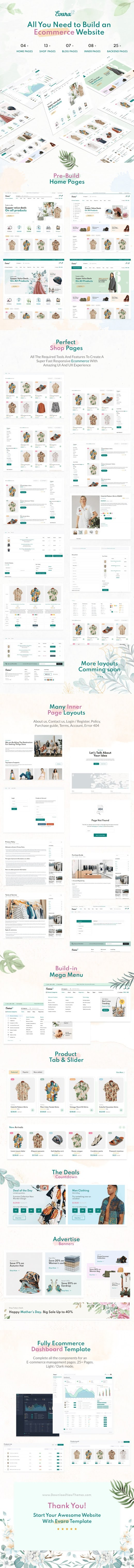Ecommerce Frontend & Dashboard Template