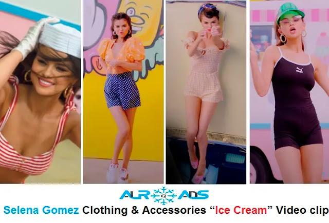 "Selena Gomez Clothing & Accessories ""Ice Cream"" Video clip"