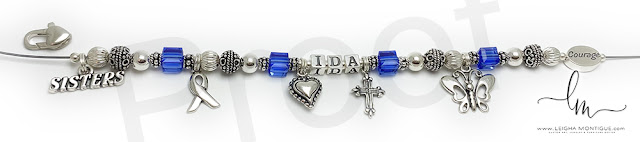 Colon Cancer Charm Bracelet for Courage