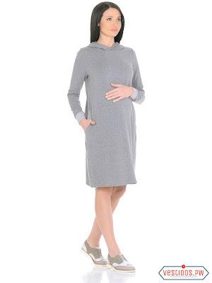 vestidos para embarazadas manga larga