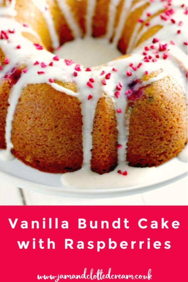Vanilla Bundt Cake with Raspberries
