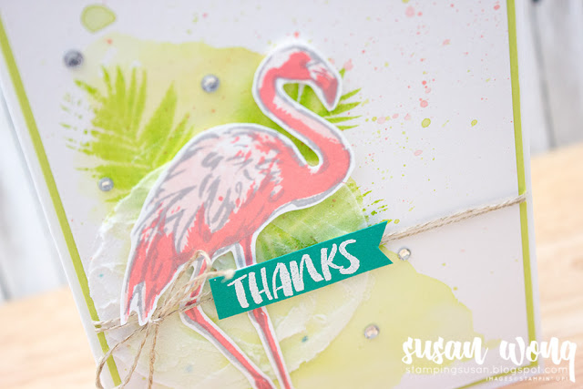Fabulous Flamingo + Embossing Paste - Susan Wong