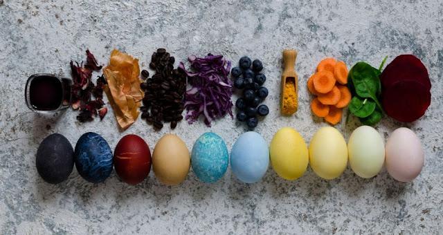 colour cooking eggs