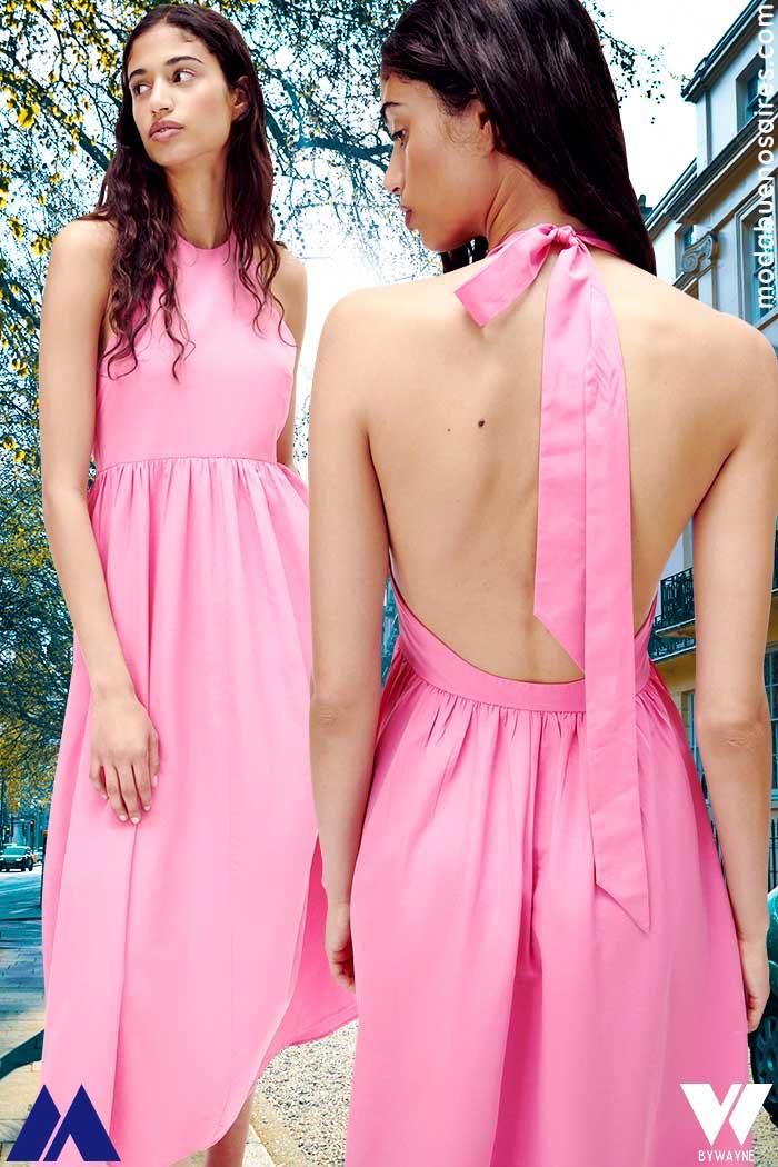 vestidos con lazos en la espalda verano 2022 moda mujer