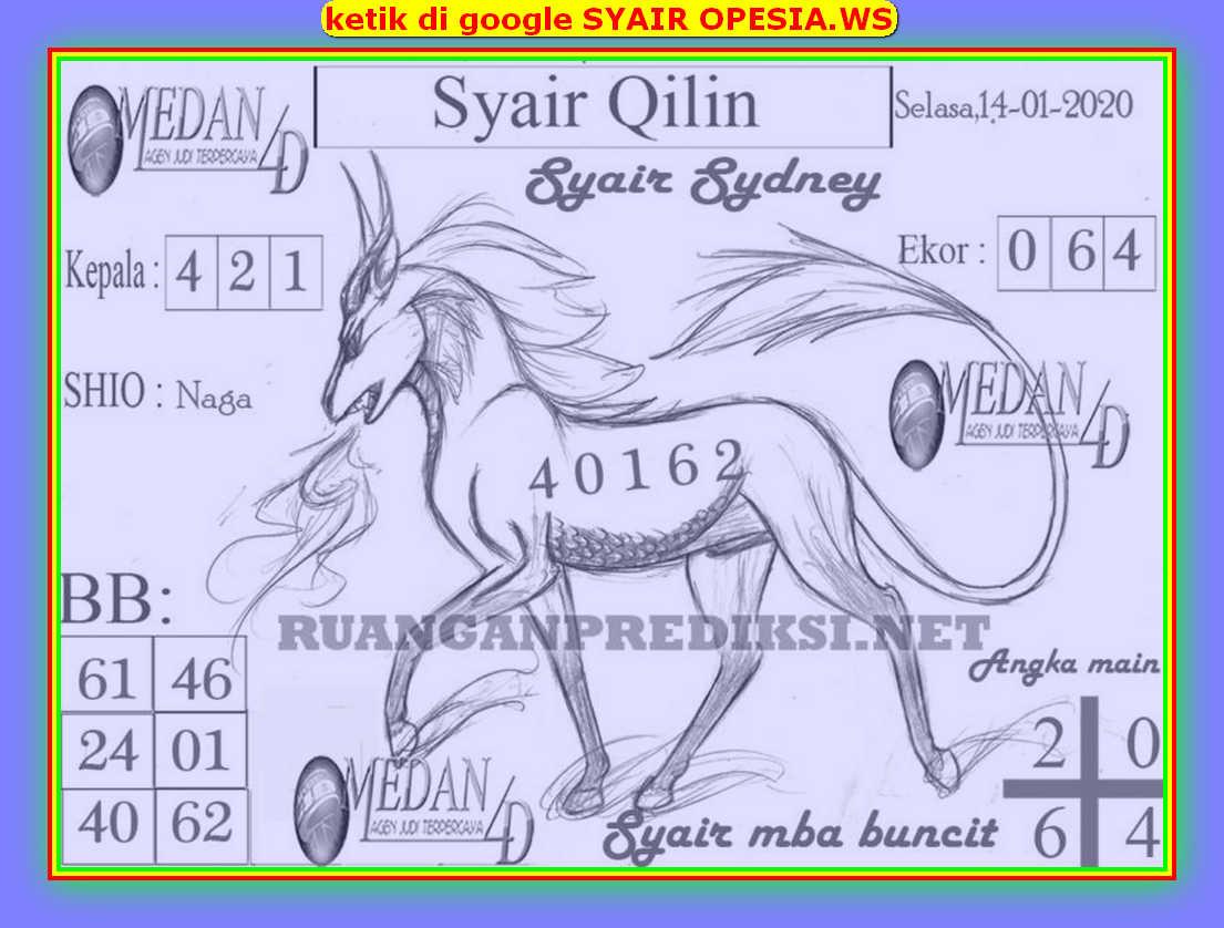 Kode syair Sydney Selasa 14 Januari 2020 96